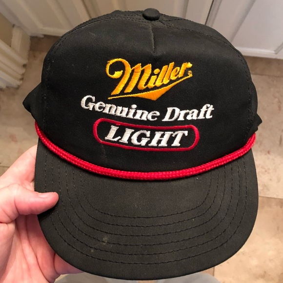4782f7473f76b Vintage Miller Lite Rope Hat. M 5a64dad746aa7c6c84a20966. Other Accessories  ...